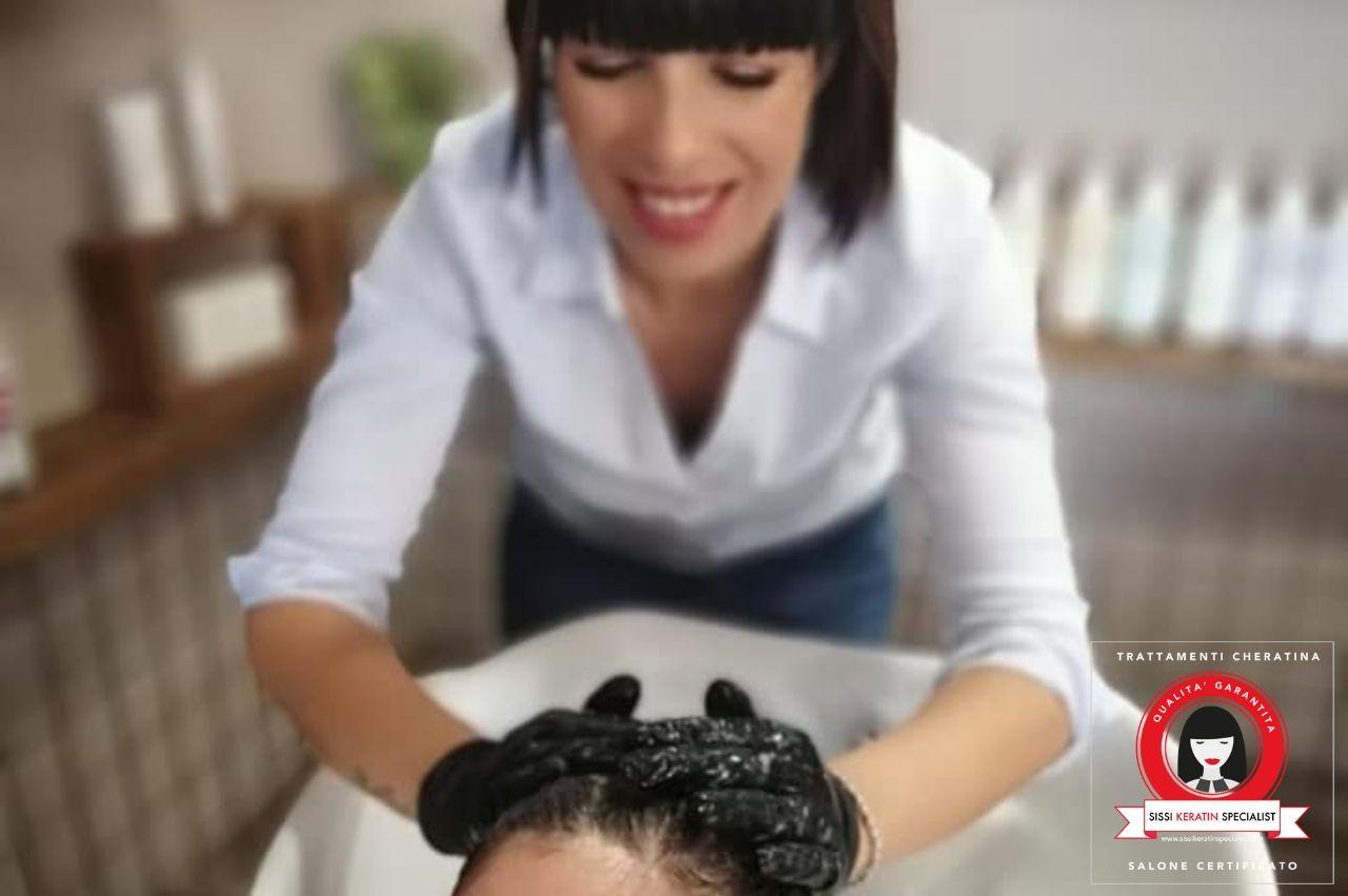 ricostruzione capelli cheratina